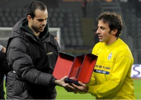 Fabio premia Alessandro Del Piero